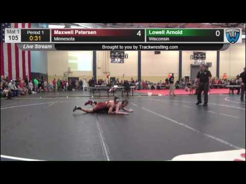 3007 Schoolboy 105 Maxwell Petersen Minnesota vs Lowell Arnold Wisconsin 7863675104