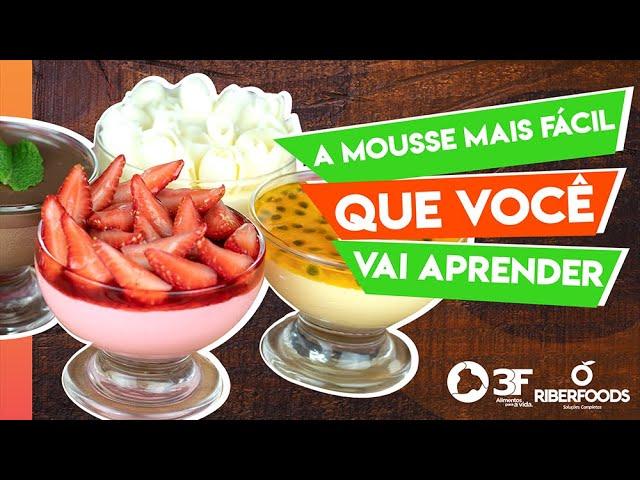 A receita MAIS FÁCIL de Mousse pra você fazer em minutos