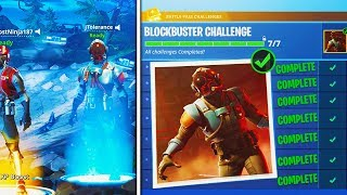 "NEW ""Visitor"" SKIN FREE in Fortnite! - NEW ""Blockbuster"" SKIN COMPLETED! (Fortnite Blockbuster Skin)"