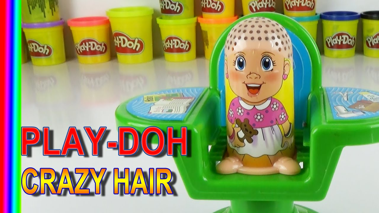 Play Doh CRAZY HAIR, play doh hair cut