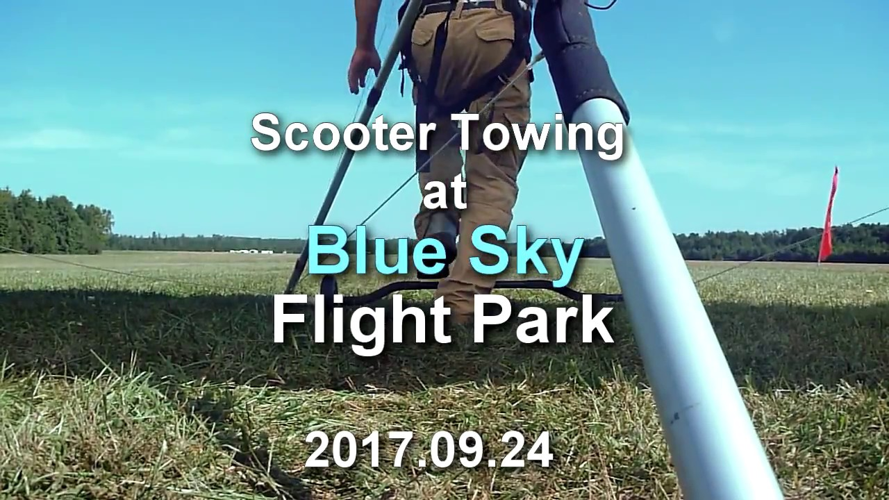 2017 09 24 blue sky scooter towing [ 1280 x 720 Pixel ]