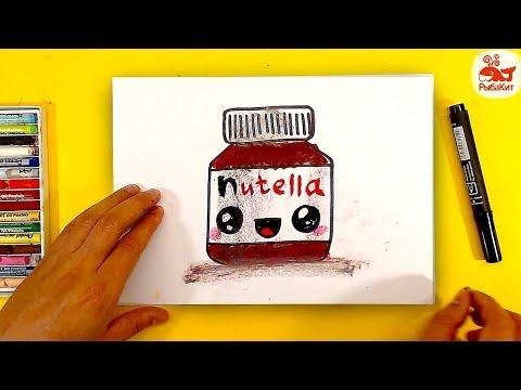 Как нарисовать НУТЕЛЛУ / уроки рисования для детей / простые рисунки