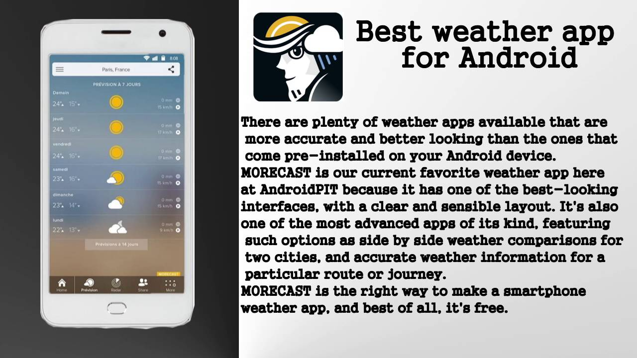 Phone Best Weather App For Android Phones morecast best weather app for android youtube android