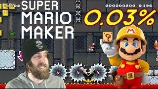 99% IMPOSIBLE #2 by ZetaSSJ | 0.03% P-Switch Massacre | Super Mario Maker