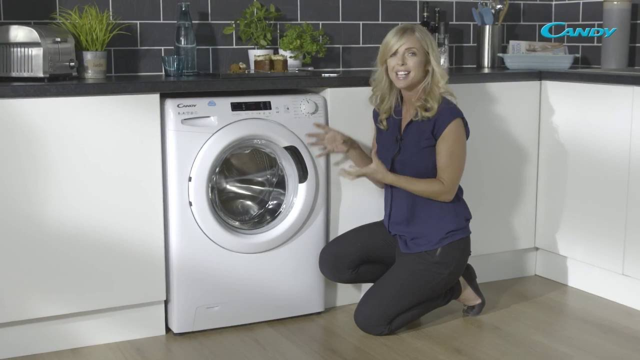 Candy Cs1482d3 8kg 1400 Spin Washing Machine Youtube