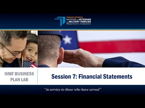 IVMF Business Plan Lab | Financials