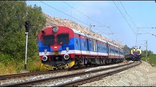 Memu meet Demu Train    Memu Vs Demu    Tyakal Railway Station    South Western Railway