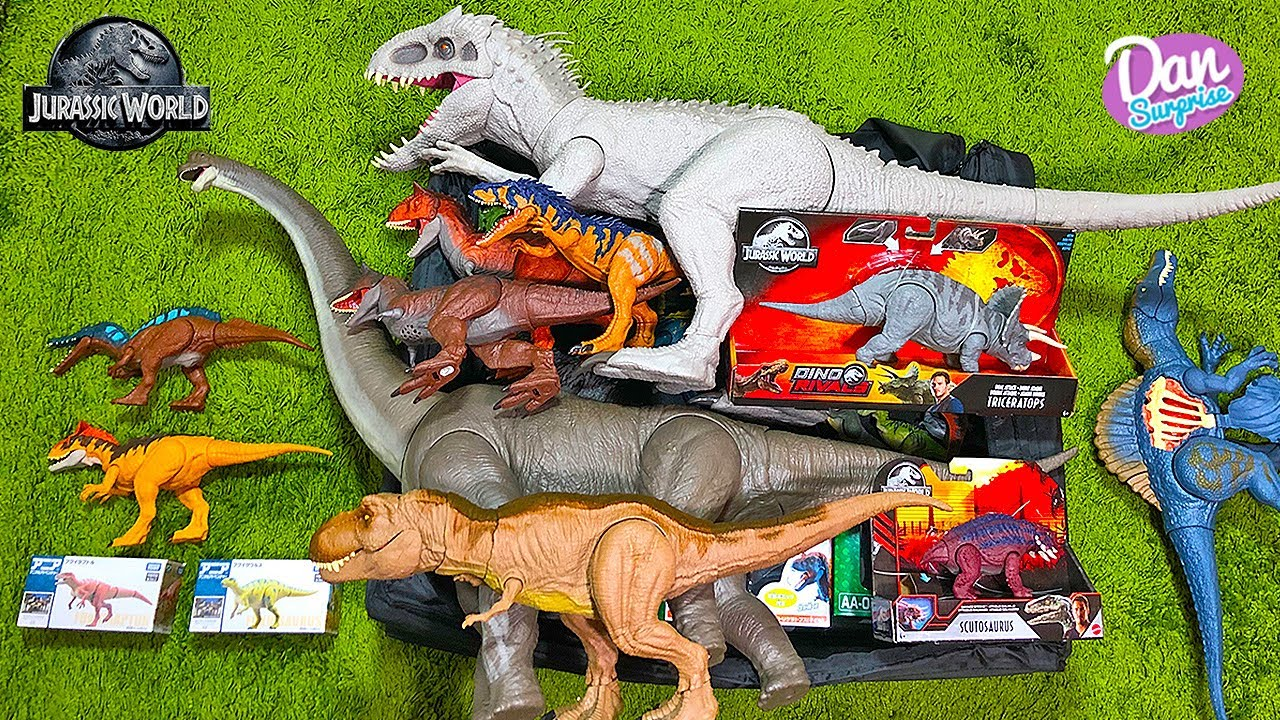 BIG NEW BOX OF DINOSAURS! Jurassic World Dinosaurs, Scutosaurus!