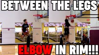 BETWEEN THE LEGS ELBOW IN RIM!!! -  Isaiah Rivera has LEVELED UP Video