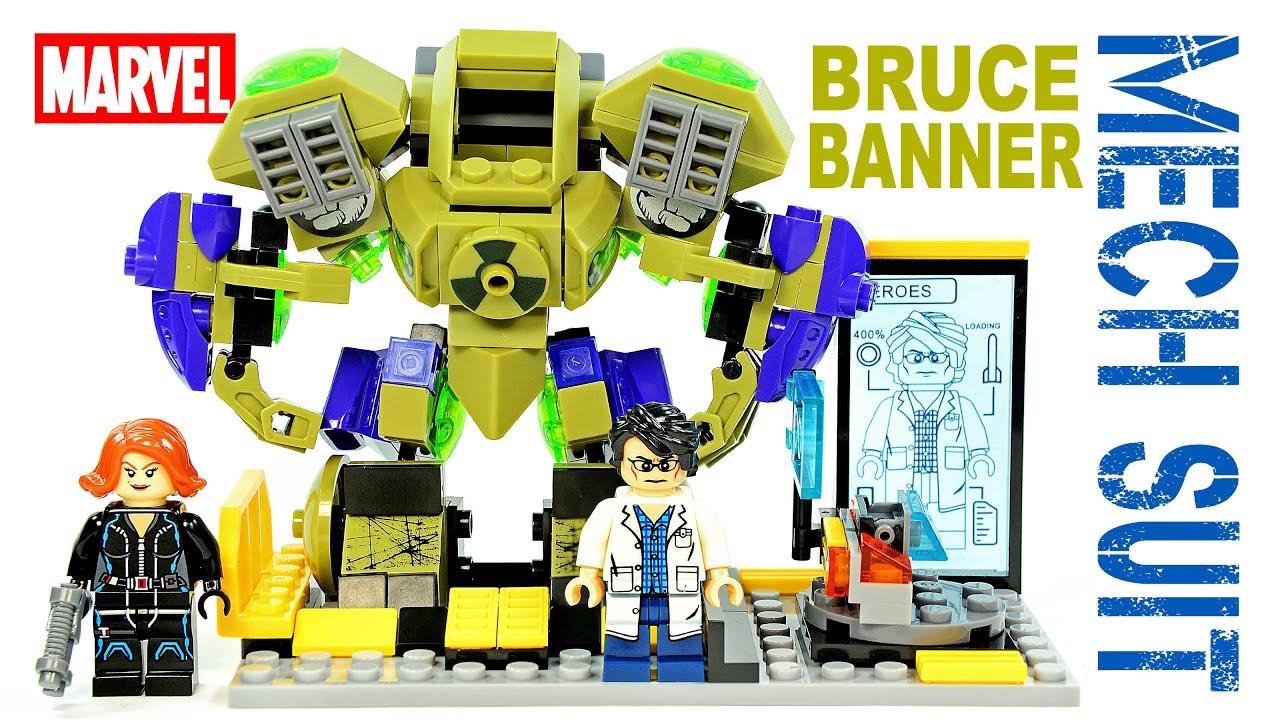 LEGO Hulk Bruce Banner Gamma Mech Suit Tony Stark's Lab ...