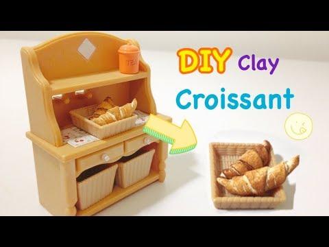 DIY Air Dry Clay!! Miniature Croissant