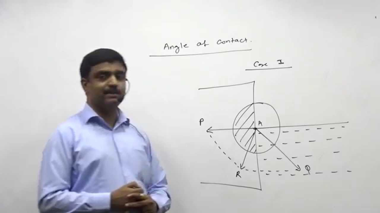 Surface Tension : Angle Of Contact HSC Physics Maharashtra Board,MHT-CET  std 12