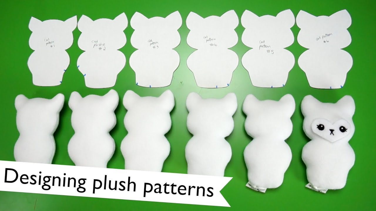 how to make a 3d plush pattern