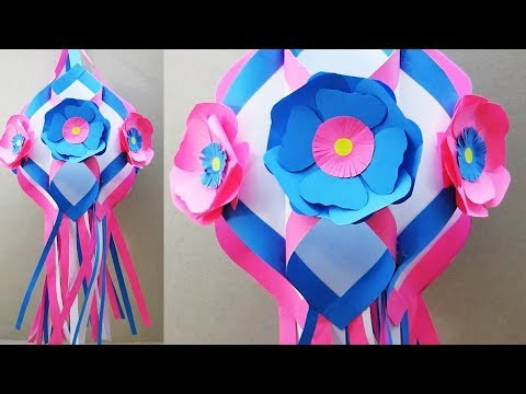 How to Make Paper Lantern for Diwali and Christmas   Kandil Making   Diwali Decoration Ideas