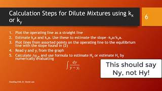 Absorption Calculations for Dilute Mixtures