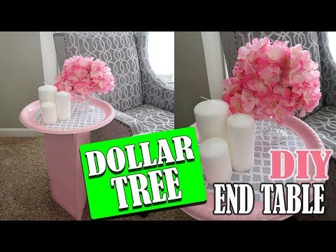 DIY Dollar Tree END TABLE Room Decor