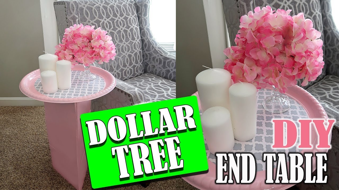 Diy Dollar Tree End Table Room Decor Youtube