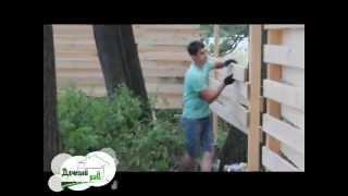 Забор из дерева -