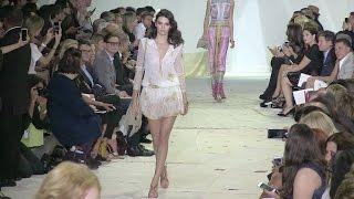 Braless Kendall Jenner, Irina Shayk, Karlie Kloss and Gigi Hadid on the runway in NYC