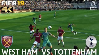 FIFA 19 (PC) West Ham vs Tottenham | PREMIER LEAGUE PREDICTION | 20/10/2018 |4K 60FPS