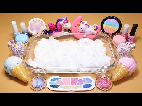 """Special Theme Series #1 """"Unicorn Slime"""" Mixing Makeup,Parts,glitter Into Cloud Slime! """"Unicorn"""""""
