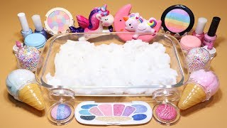"Special Theme Series #1 ""Unicorn Slime"" Mixing Makeup,Parts,glitter Into Cloud Slime! ""Unicorn"""