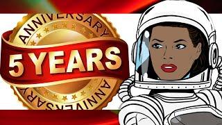 5 Year Anniversary - Movie Review Channel - Retro Nerd Girl