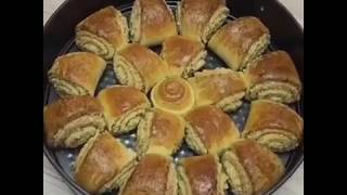 Булочки с ореховой начинкой. Рецепт смотреть в описании👇👇👇