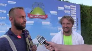 Roman Jebavý a David Novák po čtvrtfinále deblu na turnaji Futures v Pardubicích