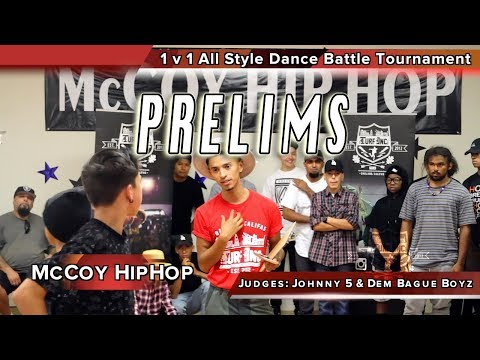 1 v 1 All Style Dance Battle PRELIMS Fresno, Ca. McCoy Hip Hop TURFinc Dance Battle Tour 2017