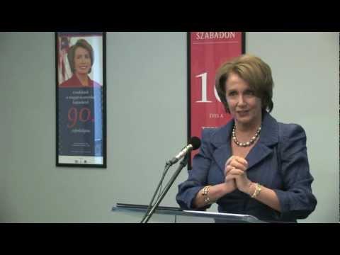 Nancy Pelosi gondolatai az amerikai-magyar diplomáciai kapcsolatok 90. évfordulójára