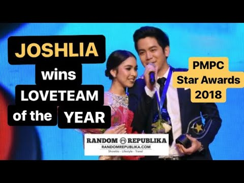 JoshLia   Joshua and Julia awarded the Loveteam of the Year at the PMPC Star Awards for Movies 2018
