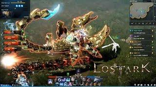 LOST ARK Online - CBT2 Bard Max Level 50 Guardian Raid Nasrinna Dungeons Giant Scorpion Gameplay
