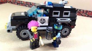Сборка конструктора . Полицейский джип .Тип лего