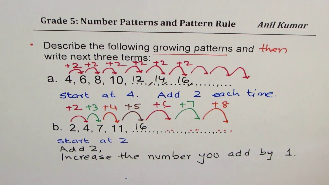 hight resolution of Number Patterns Alternately Add and Subtract Grade 5 Lesson 1-1 - YouTube