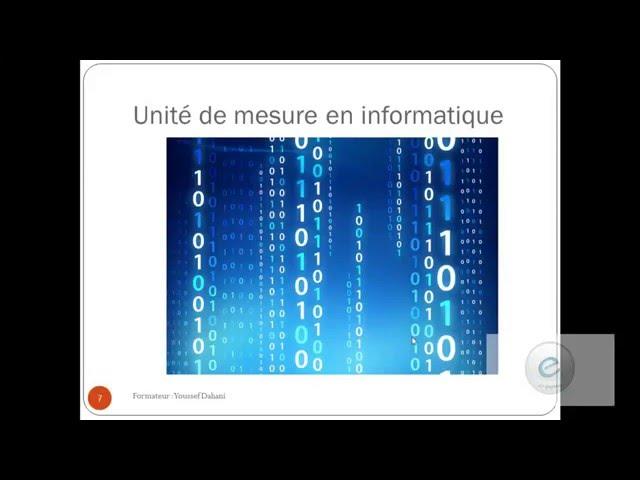 Les Composants de l'Ordinateur 4 :Unité de mesure en Informatique