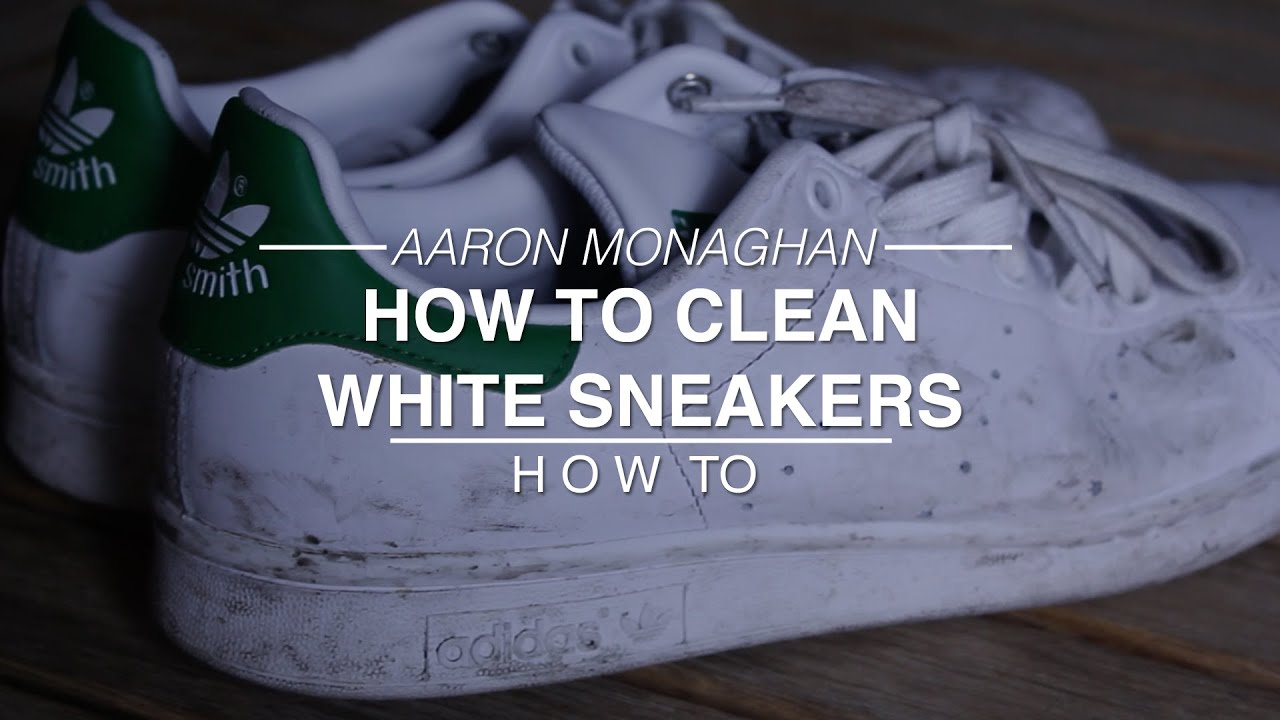 How to clean white sneakers youtube - How to clean shoes ...
