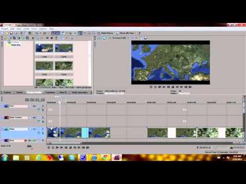 Sony Vegas: Satellite zoom effect