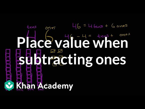 Understanding Place Value While Subtracting Ones | Early Math | Khan Academy