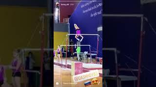 Daria Spiridonova doing transitions on the uneven bars   Gymnastics World Championship 2018