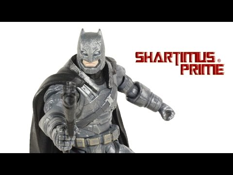 DC Multiverse Armored Batman v Superman Dawn of Justice Movie 6 Inch Toy Action Figure Review