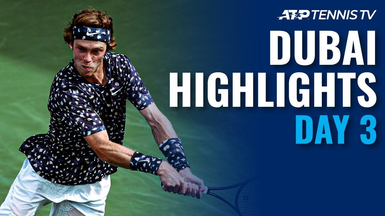 Djokovic and Monfils Roll; Rublev, Tsitsipas Reach Quarters   Dubai 2020 Day 3 Highlights