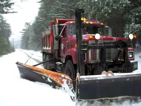 My Snow Plow Dump Truck Youtube