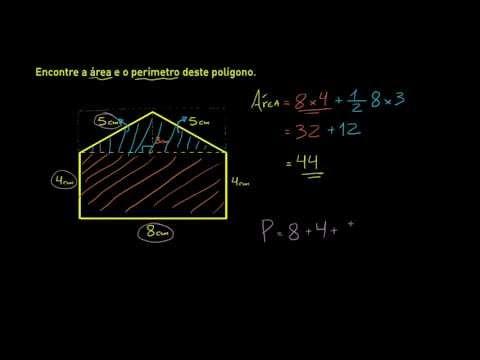 Perímetro e área de um polígono não padrão