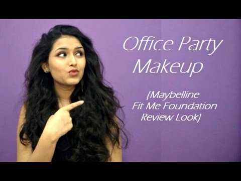 Office Party Makeup (Fit Me Foundation Review Makeup Look) - YouTube