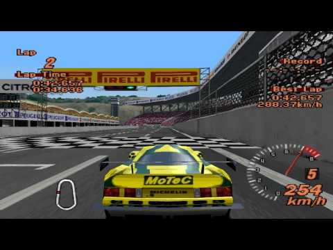 Gran Turismo 2 - Lister Storm V12 Race Car - Engine sound change after tuning - ePSXe 1.8.0