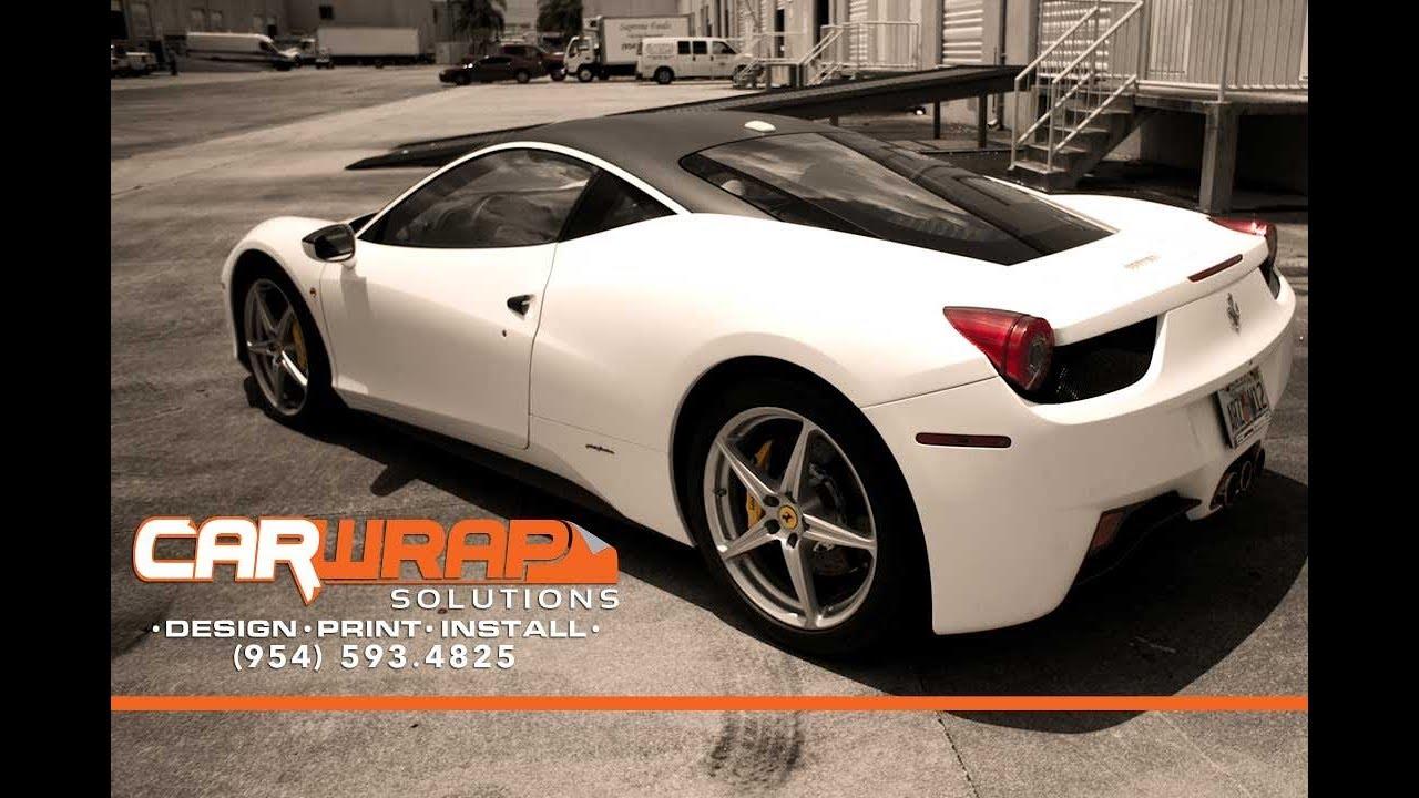 Ferrari 458 Italia Matte Flat White Wrap 3m Vinyl Seamless