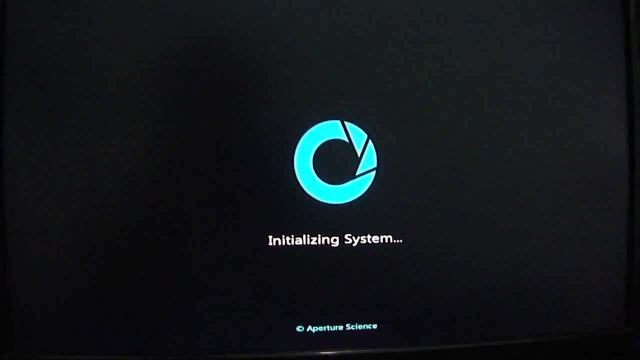 Windows 7 Custom Boot Screen Aperture Science Youtube