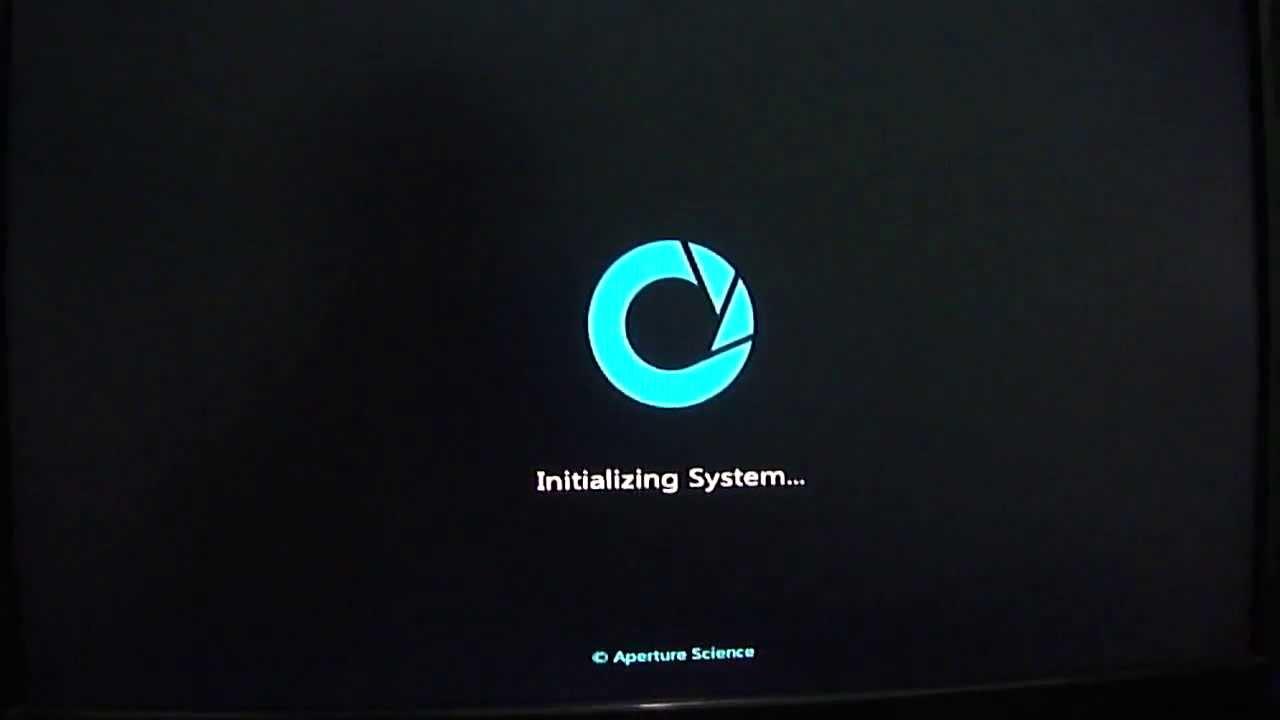 Windows 7 Custom Boot Screen Aperture Science Youtube
