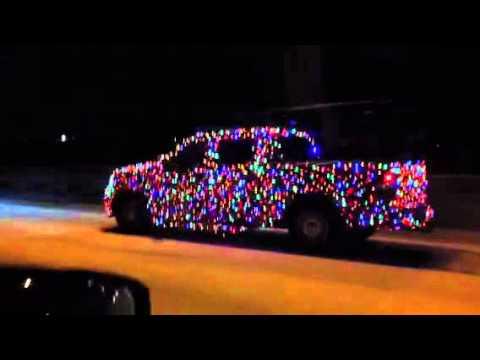 Christmas Light Covered Truck - YouTube